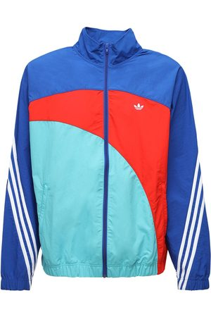 adidas Off Center Nylon Windbreaker Jacket
