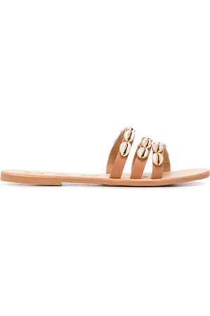 MANEBI Embellished strappy sandals - Neutrals
