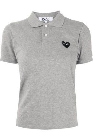 Comme des Garçons Logo embroidered polo shirt - Grey