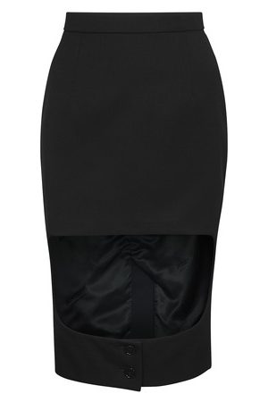 Burberry Grain de doudre wool step-through skirt