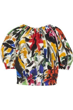 Marni Floral print short sleeves top
