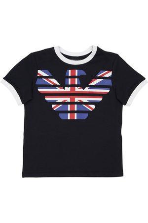 Emporio Armani Uk Logo Cotton Jersey T-shirt