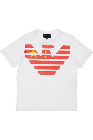 Emporio Armani China Print Cotton Jersey T-shirt
