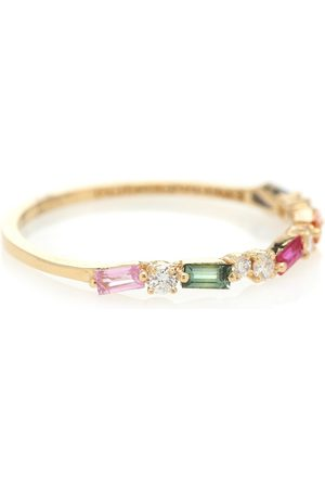 Suzanne Kalan 18kt gold, sapphire and diamond ring