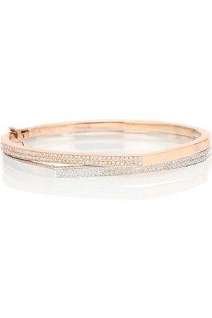 Repossi Exclusive to Mytheresa – Antifer 18kt rose and white bracelet with diamonds