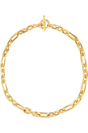 Tilly Sveaas 18kt -plated watch chain necklace