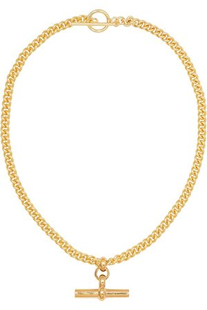 Tilly Sveaas Plated T-bar necklace