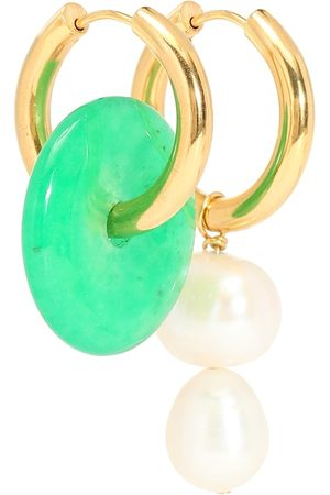 Timeless Pearly Mismatched pearl and stone earrings