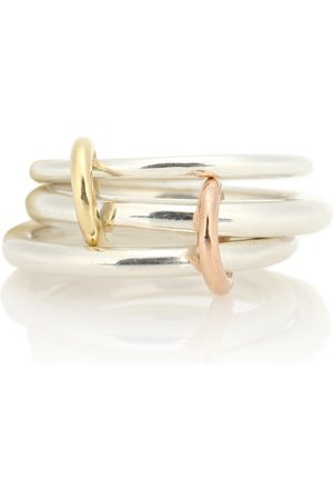 SPINELLI KILCOLLIN Women Rings - Daphne 18kt gold and sterling linked rings