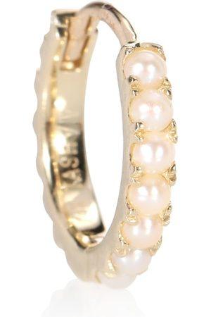 Maria Tash Akoya Pearl Cabochon Eternity 14kt yellow earring