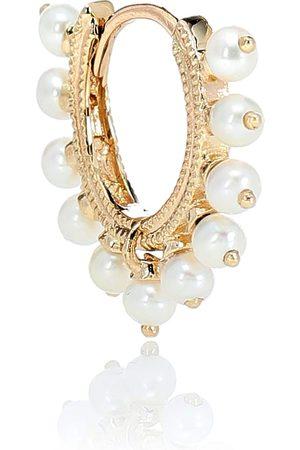 Maria Tash Eternity 14kt and pearl single earring