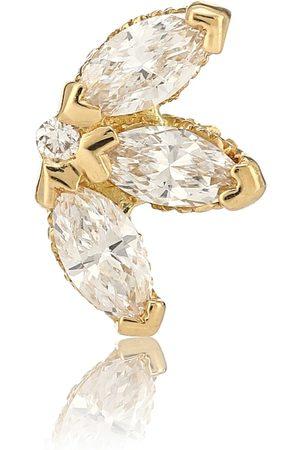 Maria Tash Lotus 18kt yellow single earring with diamonds
