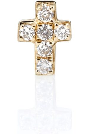Sydney Evan Tiny Cross 14kt and diamonds earring