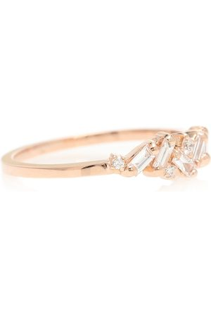 Suzanne Kalan Thin Playful Band 18kt rose gold ring with diamonds