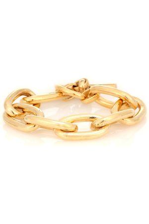 Tilly Sveaas Large Oval 18kt -plated link bracelet