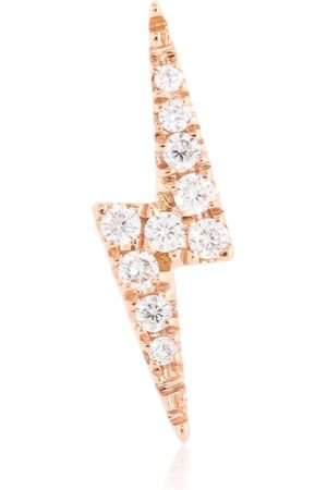 Maria Tash Diamond Lightning Bolt 18kt rose gold single stud earring