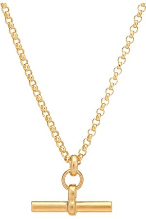 Tilly Sveaas Small T-Bar 23.5kt -plated necklace