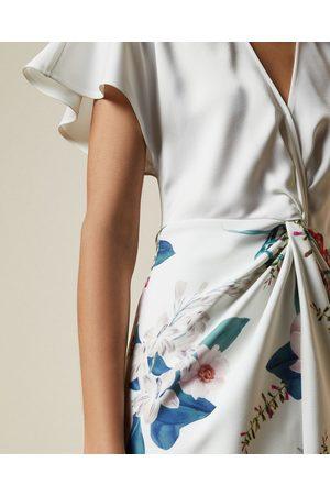 Ted Baker Jamboree Twist Detail Midi Dress
