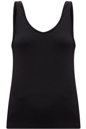 Another Tomorrow Scoop-neck Jersey Tank Top - Womens