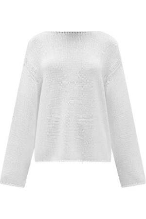 Another Tomorrow Boat-neck Organic-cotton Sweater - Womens