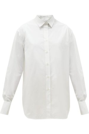 Another Tomorrow Oversized Organic-cotton Poplin Shirt - Womens