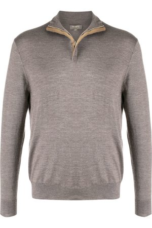 N.Peal Zipped turtle neck sweater - Neutrals