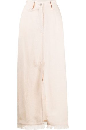Nanushka Decorative pocket maxi skirt - Neutrals