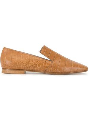 RODO Flat crocodile embossed loafers