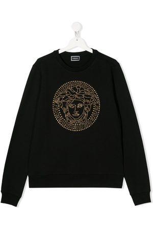 Versace Kids Girls Hoodies - Medusa Head logo sweatshirt