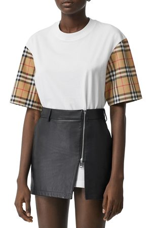 Burberry Women's Serra Vintage Check Sleeve T-Shirt