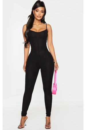 PRETTYLITTLETHING Women Jumpsuits - Shape Brushed Rib Strappy Jumpsuit
