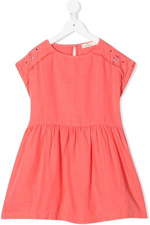 Le pandorine Girls Casual Dresses - Stud-embellished linen dress