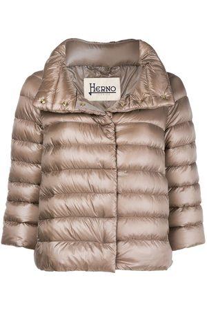 HERNO Zipped padded jacket - Neutrals