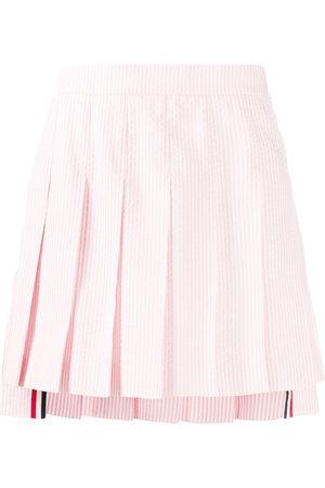 Thom Browne Seersucker pleated miniskirt