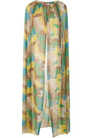 AMIR SLAMA Sheer cape dress - Multicolour