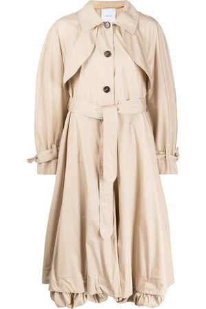 Patou Flared belted trench coat - Neutrals