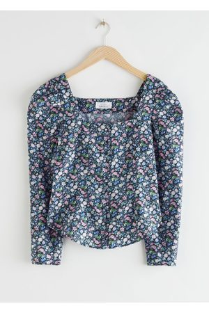 & OTHER STORIES Square Neck Button Up Blouse