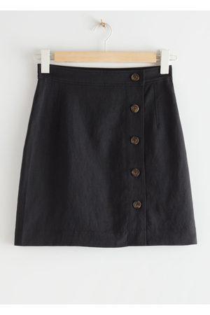 & OTHER STORIES Women Mini Skirts - Front Button Mini Skirt