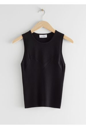 & OTHER STORIES Micro Rib Knit Tank Top