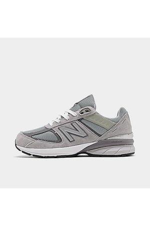 New Balance Boys' Big Kids' 990v5 Casual Shoes in Grey/Grey