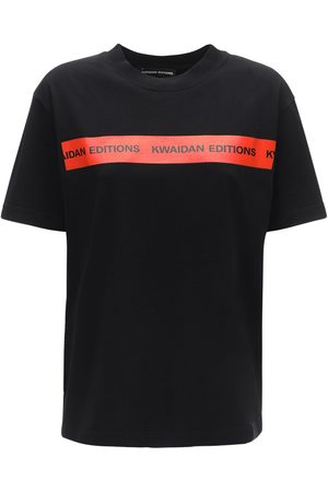 Kwaidan Editions Logo Tape Cotton Jersey T-shirt