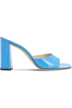 By Far 90mm Juju Brushed Leather Sandals
