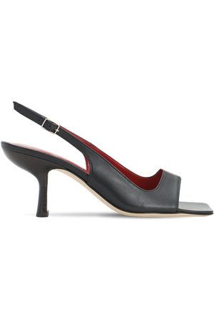 By Far 80mm Lopez Brushed Leather Sandals