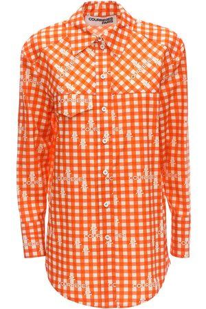 Courrèges Check Cotton Poplin Shirt