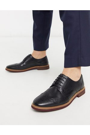 ASOS Brogue shoes in leather with contrast sole