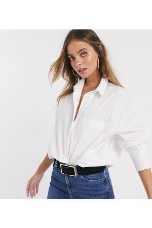 ASOS ASOS DESIGN Petite long sleeve boyfriend shirt in