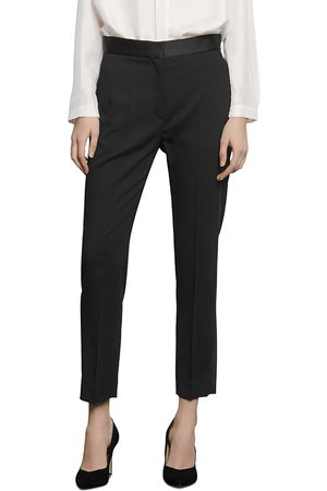 Sandro Women Pants - Quang Suit Pants with Satin Trim