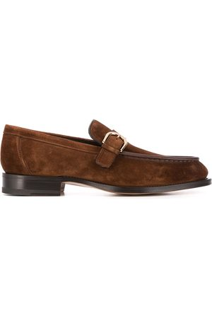 santoni Slip-on buckled loafers