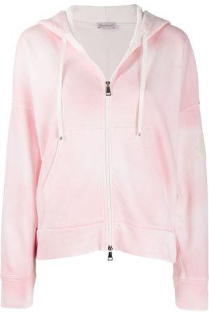 Moncler Women Hoodies - Tie-dye hooded jacket