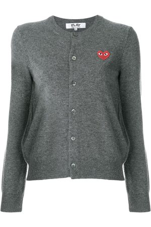 Comme des Garçons Heart logo cardigan - Grey